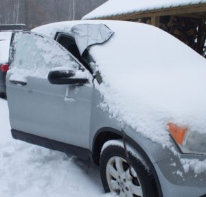 SnowOFF Straps Windshield Cover